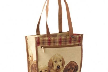 Puppies shopping bag